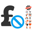 forbidden pound payment icon with lovely bonus vector image vector image