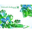 Green watercolor leaves vector image vector image