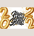 happy new year 2022 metallic gold foil balloons vector image