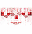 happy valentine day background with shiny and vector image vector image