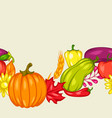 harvest seamless pattern with fruits and vector image vector image