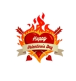 heart on fire isolated on White background vector image vector image