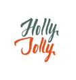 Holly Jolly Merry Christmas Hand Drawn vector image vector image