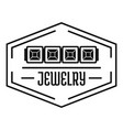 jewelry logo simple black style vector image vector image