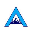 letter a mountains logo icon vector image
