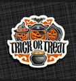 logo for halloween vector image vector image