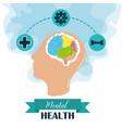mental health day human head brain activities vector image vector image