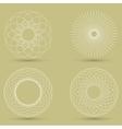 modern white geometric shape guilloche vector image vector image