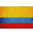 Mosaic Flag of Colombia vector image vector image
