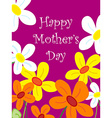 Mothers day flower card vector image vector image