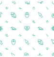 mouse icons pattern seamless white background vector image vector image