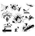 movie action hero bomb explosion scene man vector image vector image