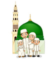 Muslim family vector image vector image