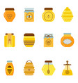 organic honey jars and pots set vector image vector image