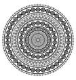 polynesian tattoo style mandala pattern vector image vector image