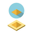 pyramid icon in isometric style vector image vector image