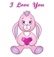 Rabbit with Valentine Heart vector image