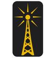 Radio antenna vector image vector image