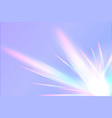 rainbow prism flare lens realistic effect vector image
