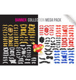 ribbon banners collection mega pack vector image