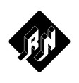 rn - 2-letter code r and n - monogram or logotype vector image vector image