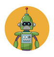robot technology circle icon vector image vector image