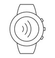 round smartwatch icon outline style vector image vector image