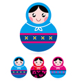 russian doll collection vector image