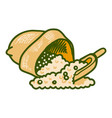 sack of soybean icon hand drawn style vector image vector image