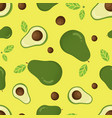 seamless pattern with avocado vector image