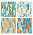 set of four seamless grunge brush pattern in vector image vector image
