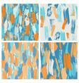 set of four seamless grunge brush pattern vector image
