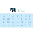 set of icons Electronic Technology vector image vector image