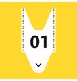 Shopping queue ticket vector image