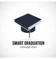 Smart Graduation Concept Icon Symbol or Logo vector image vector image