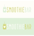 Smoothie bar logotypes vector image vector image
