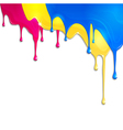 spilled paint vector image vector image