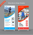 standard blue and red rollup banner vector image vector image