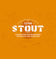 stencil-plate serif font and craft beer label vector image vector image