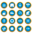 surfing icons blue circle set vector image vector image