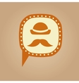 Symbol hipster hat and retro mustache icon