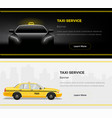 taxi service web banners vector image vector image
