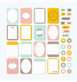 template for notebooks cute design elements vector image