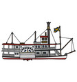 the classic paddle steamer vector image vector image