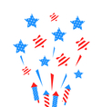 Usa Background with Rockets and Stars vector image vector image