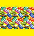 vintage cassettes pattern pop music retro 1980s vector image