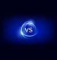 vs versus battle background sports competition vector image