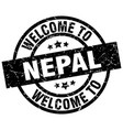 welcome to nepal black stamp vector image vector image