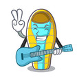 with guitar sleeping bad mascot cartoon vector image
