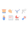 woman and pregnancy icons in set collection for vector image